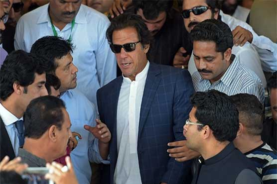 Imran Khan appears before anti-graft watchdog