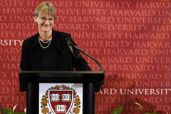 Harvard gets first woman president