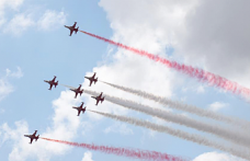 Turkish aerobatic team perform airshow at TEKNOFEST