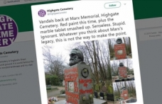 UK: Karl Marx memorial vandalized for second time