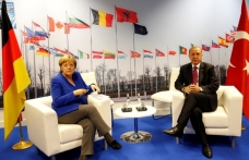 Erdogan meets Merkel in Brussels