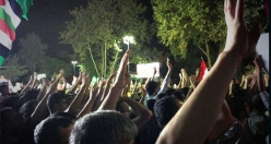 Egypt, Syria protests remain in Istanbul's Sarachane Park