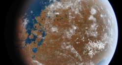 What would Mars look like if it had water?