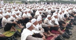Friday prayer in Indonesia