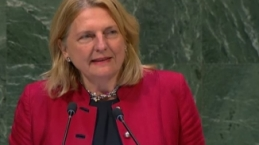 This Austrian Minister delivered her UN speech in Arabic