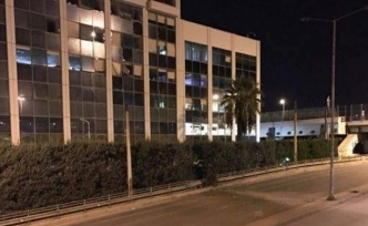 An explosion hits Skai television in Athens