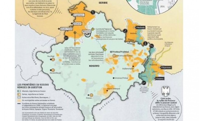 Here's how the map of Kosovo will look after territorial swap with Serbia