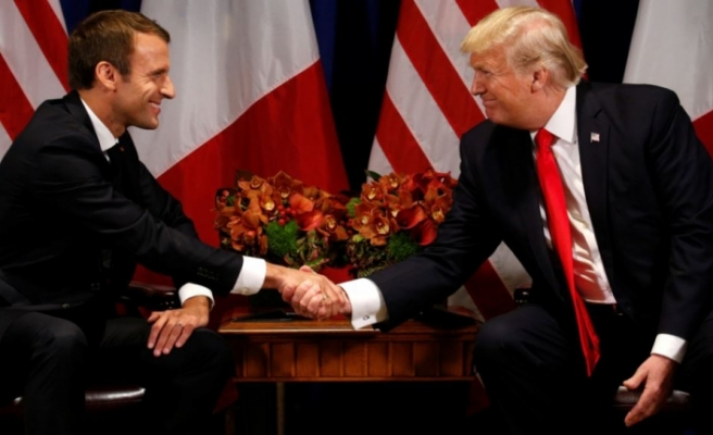 Macron hosts Trump amid row over European defence
