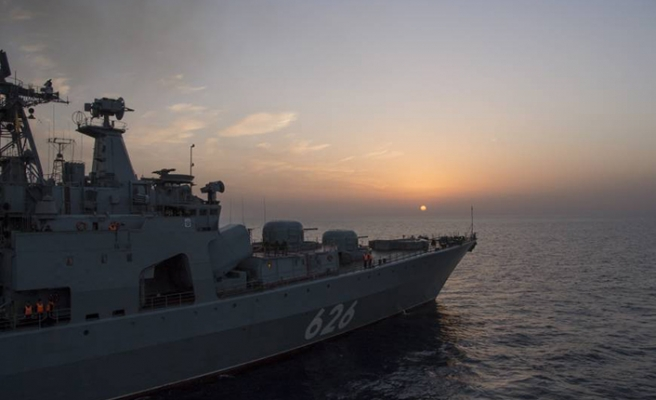 US worried about the presence of Russian warships off Syrian coast