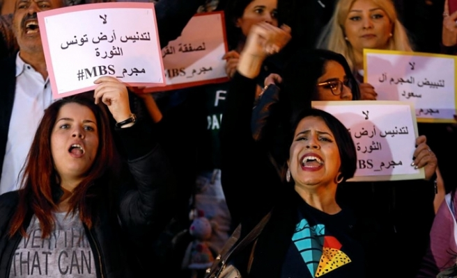 Tunisians protest planned visit of Saudi crown prince