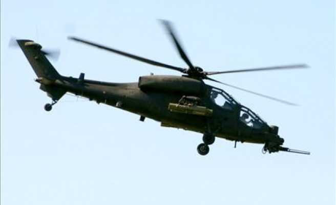 Military helicopter makes crash landing