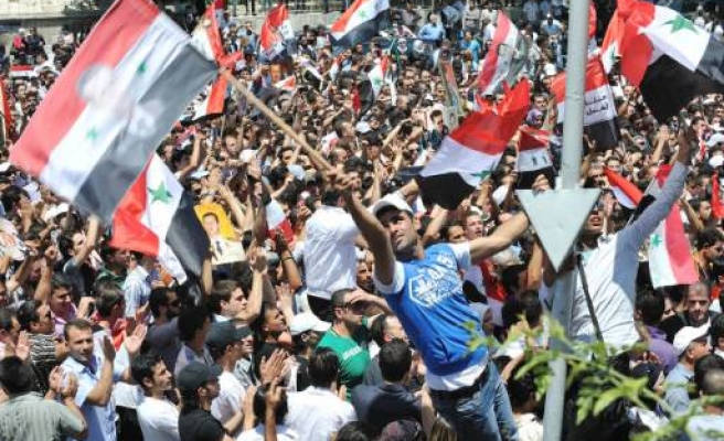 Syrian Assad supporters throw stones at US envoy