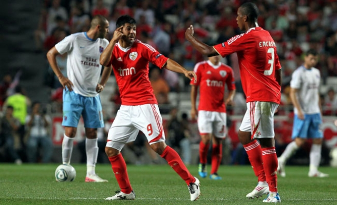 Benfica beats Turkey's Trabzonspor 2-0 in Champions League