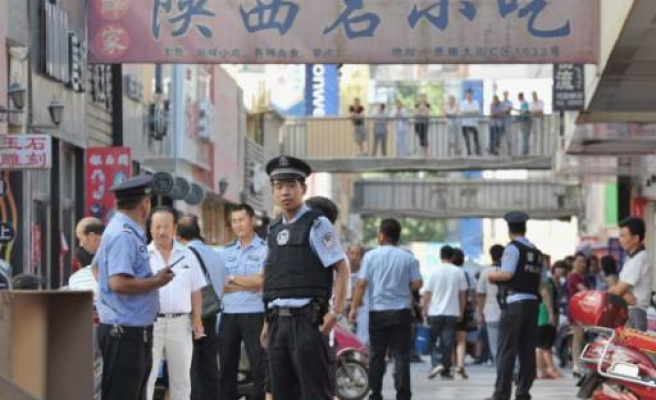Heavy China police in Uighur region after unrest