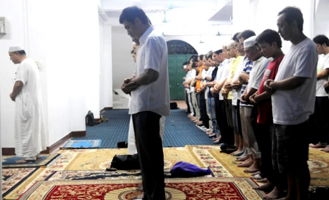 Chinese Muslims gather in oldest mosque for iftar dinner / PHOTO