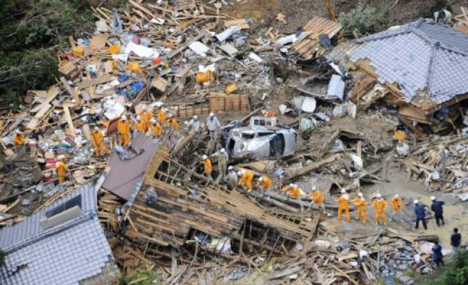 Deadly tropical storm hits western Japan