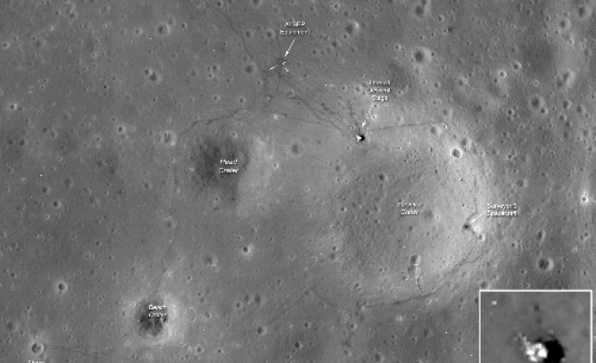 Photos show enduring traces of man's lunar visits