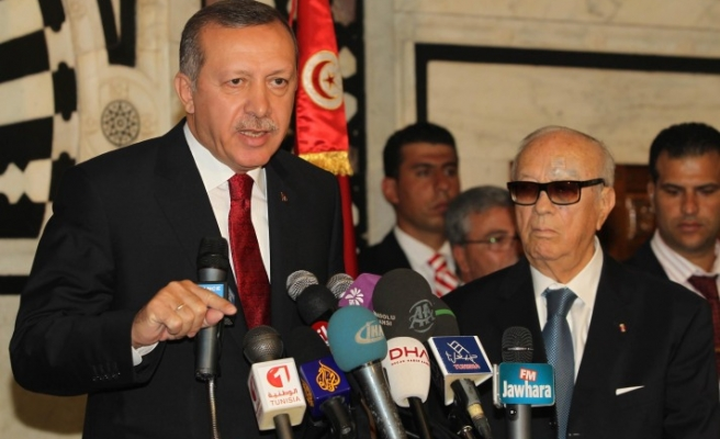 Turkish PM touches on secularism in Tunisia after Egypt