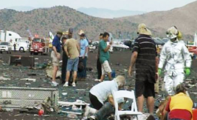 Plane crashes at Nevada air race in US