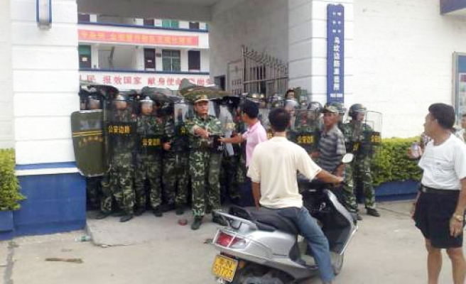 Chineses protest over land grab for 4th day