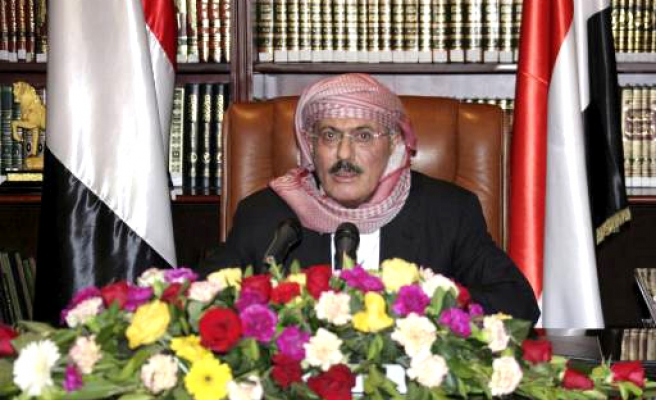Saleh does not mention resign in first talk after return