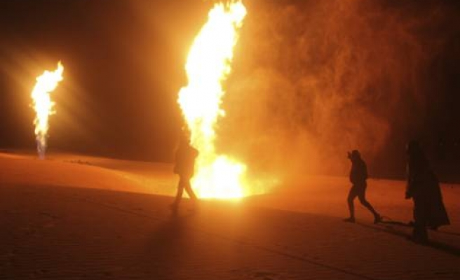Saudi pipeline set alight after shots fired at security patrol