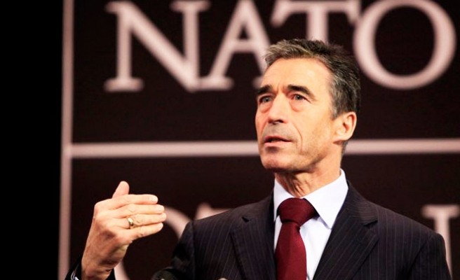 NATO's chief tells Russia to withdraw troops for dialogue