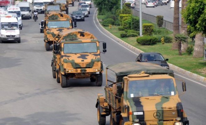 Turkish military convoy hit by explosives in southeast