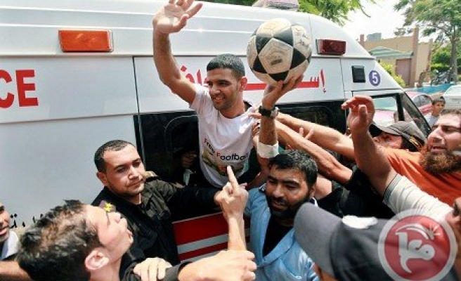 Palestinian soccer player free from Israel prison