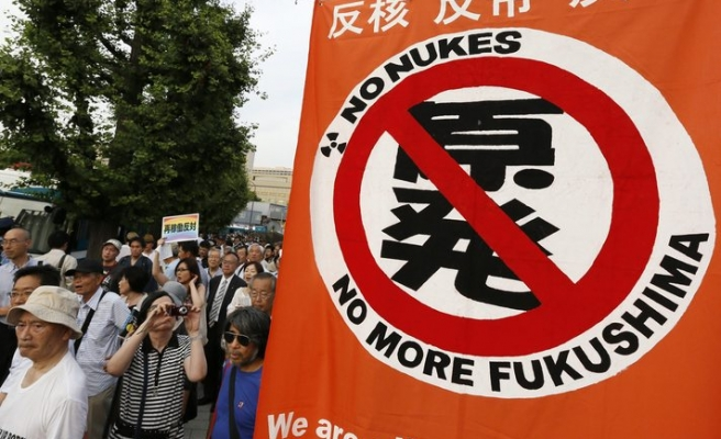 Anti-nuclear thousands protest at Japan parliament