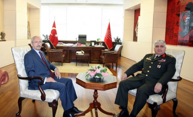 Military chief, CHP leader discuss attacks in courtesy visit