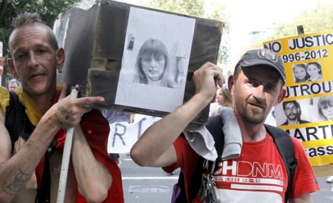 Belgians protest possible release from jail of Dutroux's ex-wife