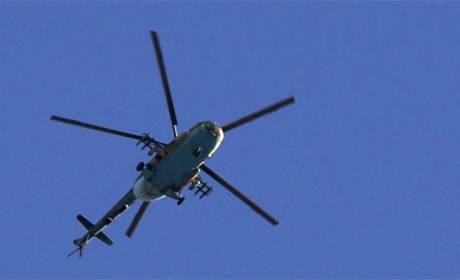Fighters down Syrian helicopter over Damascus