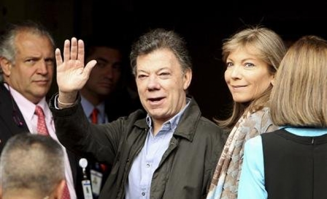 Colombian president seen poised for re-election