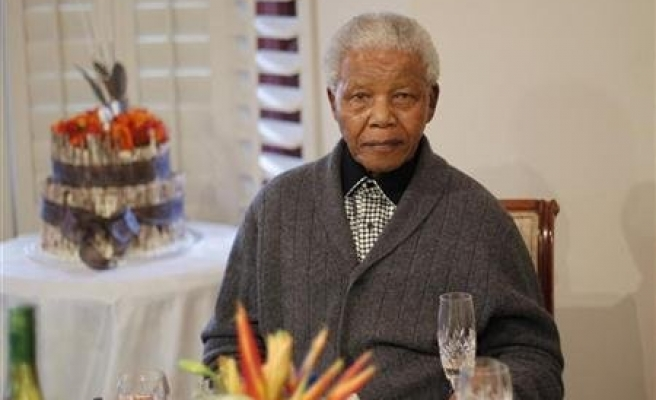 South Africa's Mandela in good health, good spirits