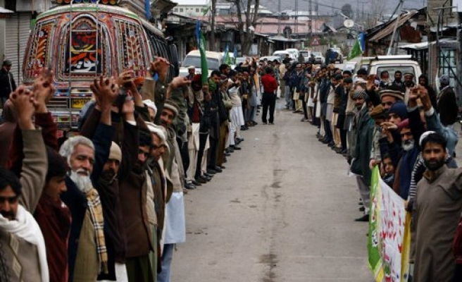 Bar Association members protest violence in India's Kishtwar