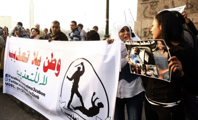 Hundreds march for late Egyptian activist