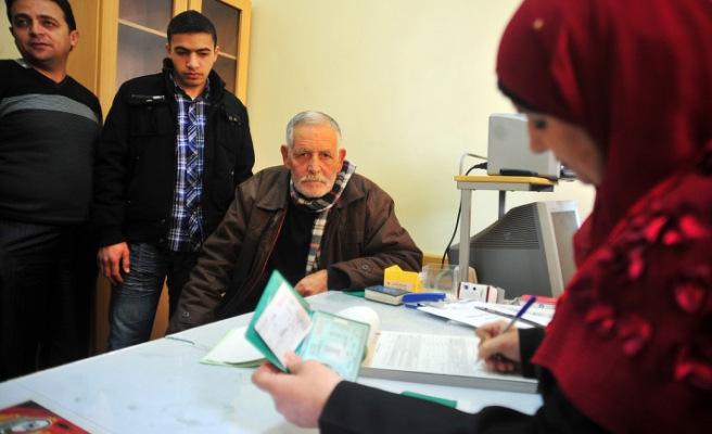 Palestinian voters are being registered