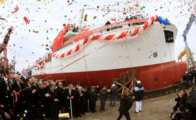 Turkey's first domestic made research ship launched