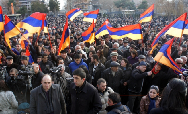 Thousands protest in Armenia against president
