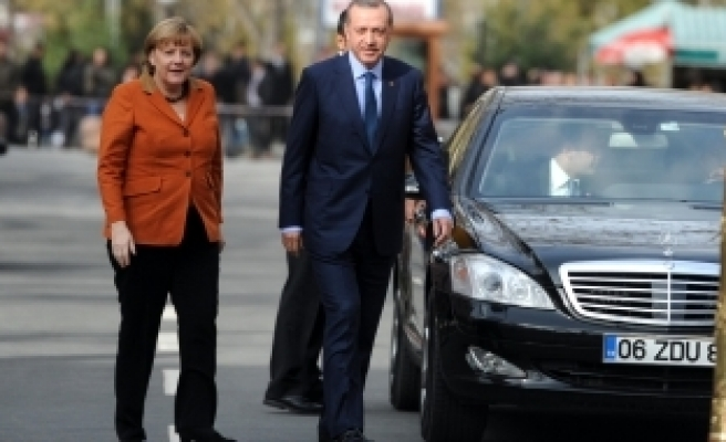 German Chancellor Merkel in Ankara