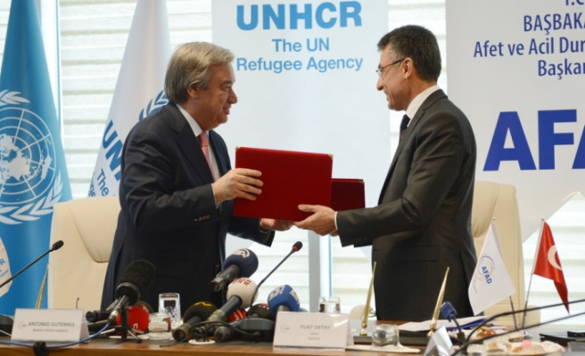 Turkish disaster agency signs deal with UNHCR