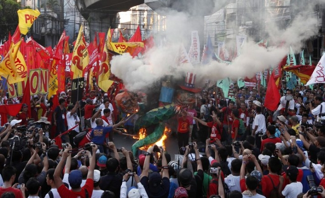Thousands rally in May Day protests- PHOTO