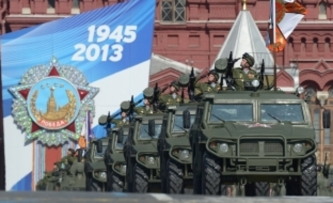 Russian nuclear missiles at Red Square