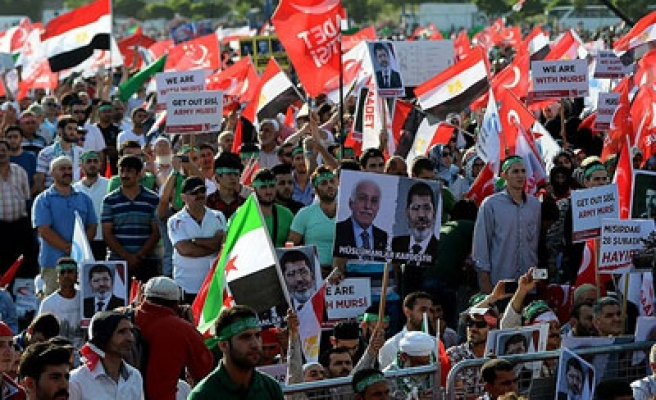 Turkish Felicity Party protests Egypt coup in Istanbul