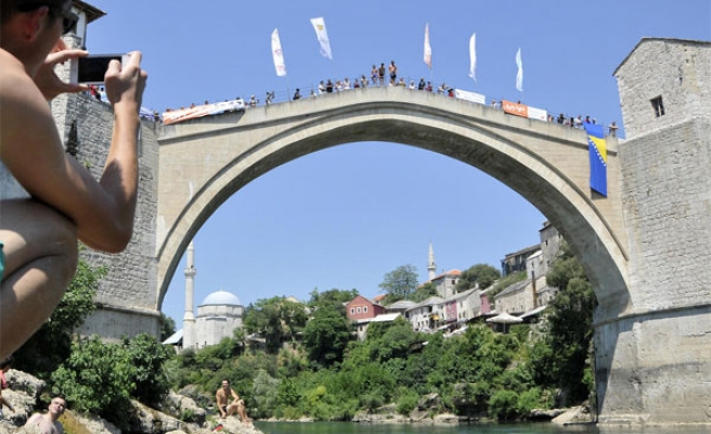 Old Bridge in Mostar was destroyed 20 years ago