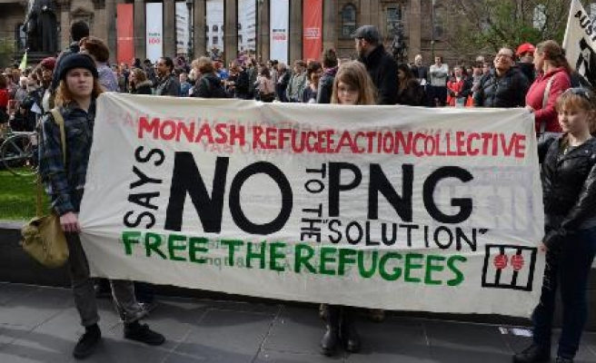 Protests against Australia's new asylum seekers policy