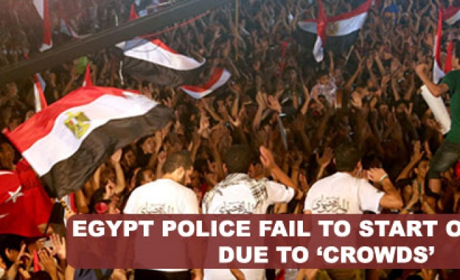 Egyptian forces fail to start operation due to 'crowds'
