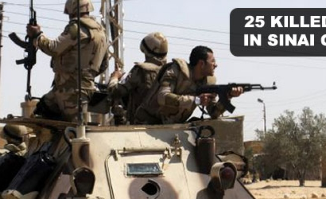 25 killed, injured in Sinai military operation, Egypt's army says