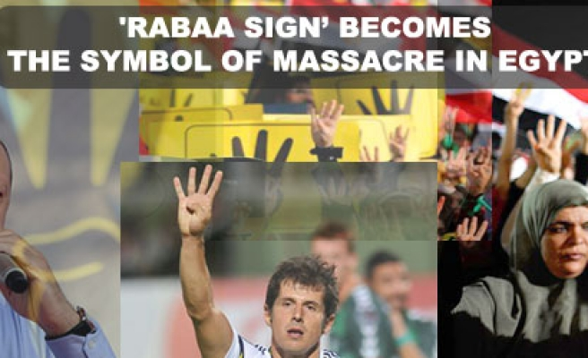 'Rabaa sign' becomes the symbol of massacre in Egypt